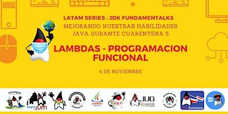 Sesión 5: Mejorando nuestras habilidades Java en los tiempos de cuarentena boletos