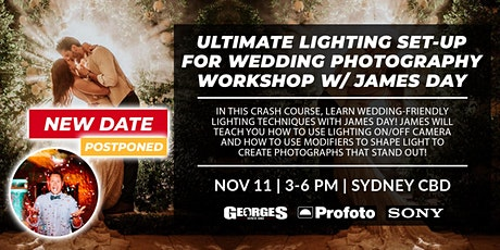 Ultimate Lighting Set-up for Wedding Photography Workshop w/ James Day tickets