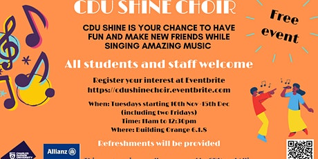 CDU Shine Choir - Singing Lessons Program tickets