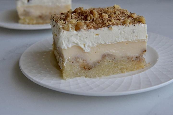 Online Cook Along Bake ekmek kataifi - pastry & custard cream pie! image