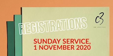 Sunday Service, 1 November 2020 tickets