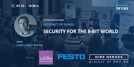 Webinar: Security for the 8-bit world tickets