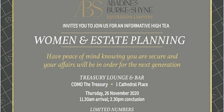 Women and Estate Planning High Tea tickets