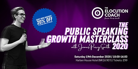 The Public Speaking Growth Masterclass 2020 tickets