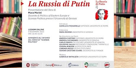 """Presentazione libro  """"La Russia di Putin"""" di Mara Morini biglietti"""