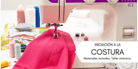 INICIACIÓN A LA COSTURA. Curso intensivo. Materiales incluidos. tickets