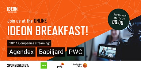 Ideon Breakfast Online with Agendex, Bapiljard and PWC tickets