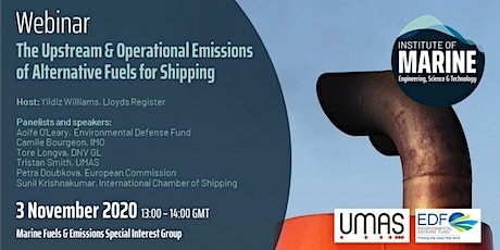 The Upstream & Operational Emissions of Alternative Fuels for Shipping tickets