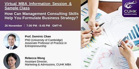 Virtual CUHK MBA Information Session & Sample Class tickets