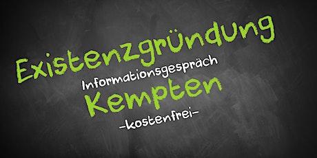 Existenzgründung Online kostenfrei - Infos - AVGS Kempten Tickets