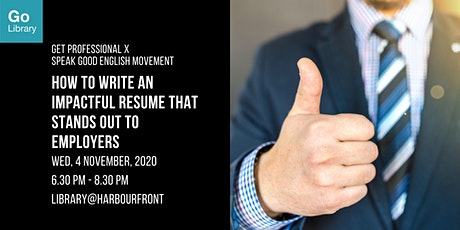 How to Write an Impactful Resume that Stands Out to Employers | GPS x SGEM
