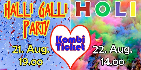 Kombiticket - Halli-Galli Party & Holi in Fürstenberg Tickets