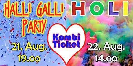 Kombiticket - Halli-Galli Party & Holi in Fürstenberg tickets