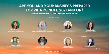 Are You and Your Business Prepared for What's Next… 2021 and on? tickets