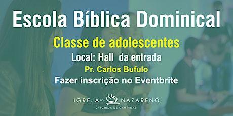 EBD (adolescentes)  -  15/11 - 10h ingressos