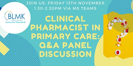 Clinical Pharmacist in Primary Care, Q&A panel tickets