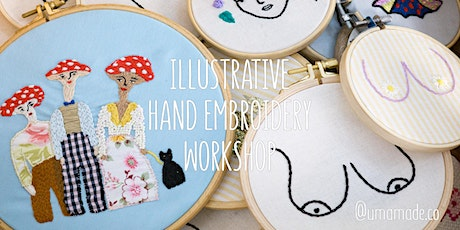Illustrative Hand Embroidery & Upcycling Workshop at LOFT Lisbon bilhetes