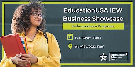 EducationUSA IEW Business Showcase - Undergraduate, Part 1 tickets
