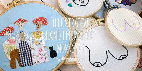 Illustrative Hand Embroidery Workshop - Stitch A Christmas Gift  at VALSA bilhetes