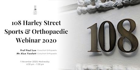 Harley Street London Sports & Orthopaedic Webinar 2020 tickets