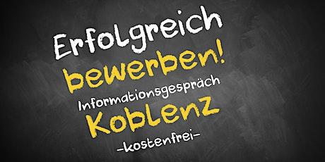 Bewerbungscoaching Online kostenfrei - Infos - AVGS  Koblenz Tickets