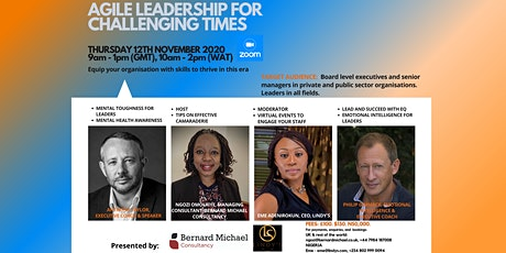 Agile Leadership For Challenging Times tickets