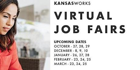 KansasWorks Virtual Statewide Job Fair - December (Employer Registration) tickets