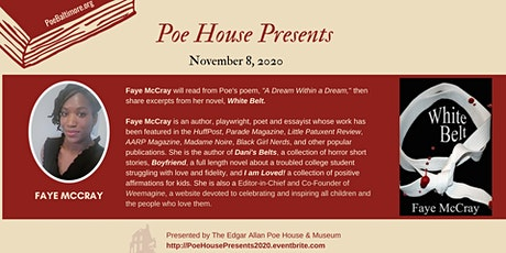 """""""Poe House Presents"""" Author Series & Virtual Tour (pay-what-you-can) tickets"""