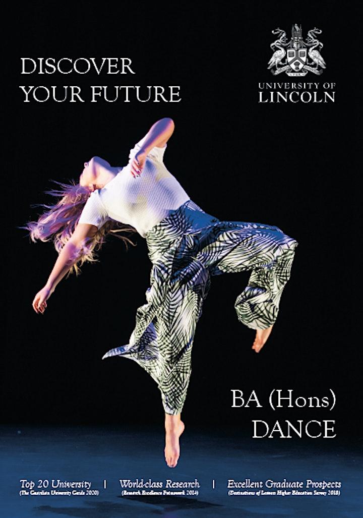 UoL BA Hons Dance Applicant Talk and 45 minute online Dance Technique Class image