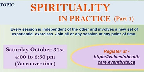 """Spirituality in Action -  Part  1"""""""