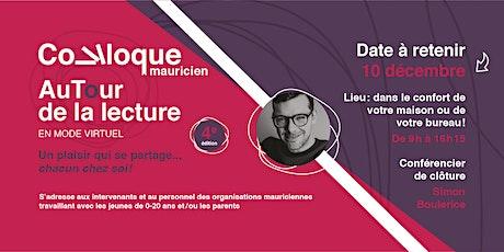 Colloque mauricien « AuTour  de la lecture » 4e édition, en mode virtuel billets