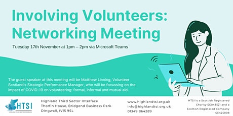 Involving Volunteers  - Networking Meeting (Inner Moray Firth) tickets