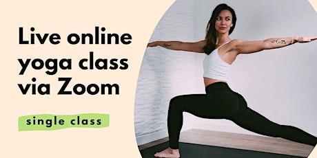 Online Yoga class via Zoom   Saturday 9am   Single class tickets