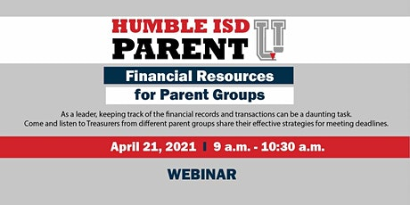 Financial Resources for Parent Groups tickets
