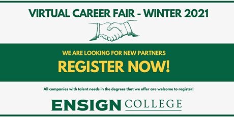 Ensign College Virtual Career Fair - Winter 2021 tickets