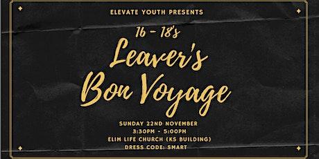 Elevate: Leavers Bon Voyage tickets
