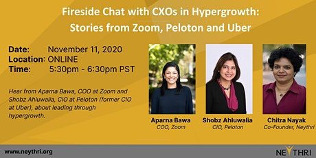 Fireside Chat with CXOs in Hypergrowth: Stories from Zoom, Peloton and Uber tickets