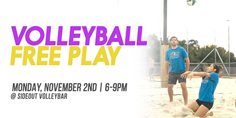 FREE Volleyball Free Play @ Sideout VolleyBar tickets