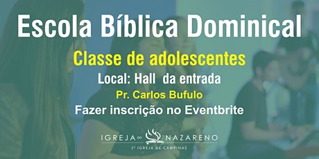 EBD (adolescentes)  -  22/11 - 10h ingressos