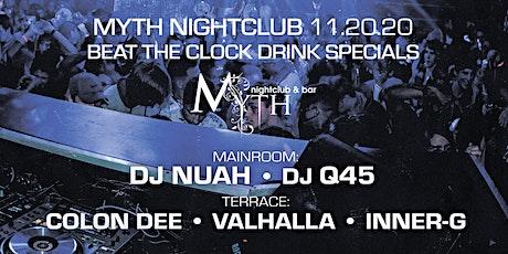 Outlet Fridays at Myth Nightclub | Friday 11.20.20 tickets