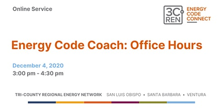 Energy Code Coach: Office Hours tickets