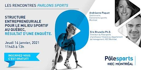 les rencontres Parlons sports : Innovation & sport billets