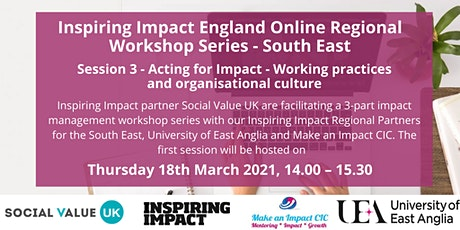 Inspiring Impact Workshop Series #3 Acting for Impact tickets