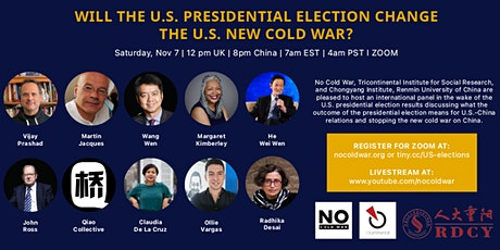 Will the US Presidential Election Change the New Cold War? tickets