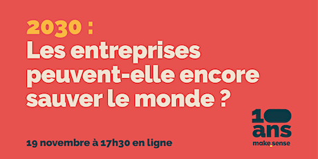 Save the date - 10 ans makesense ! tickets