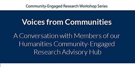 Voices from Communities tickets
