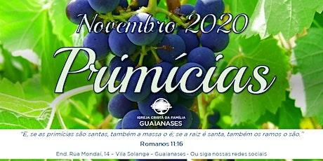 Culto ÚNICO Domingo - Manhã 01/11/2020 ingressos