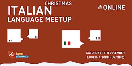 Italian Christmas Language Meetup Online tickets