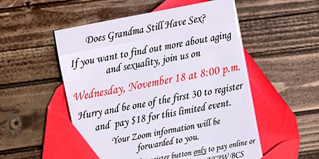 At Home Series: Does Grandma have Sex? tickets