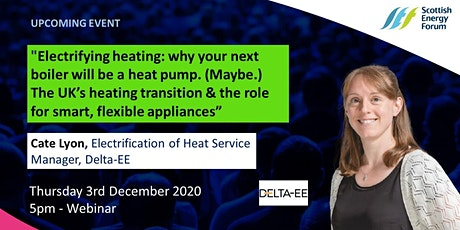 """The UK's heating transition & the role for smart, flexible appliances"" tickets"